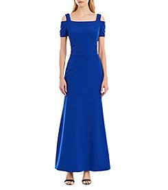Nicole Miller New York™ Cold Shoulder Long Dress