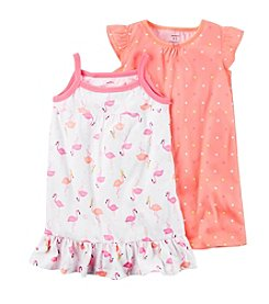 Carter's® Girls' 4-14 2-Pack Flamingo Gowns
