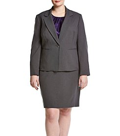 LeSuit® Plus Size One Button Jacket And Skirt Suit With Cami