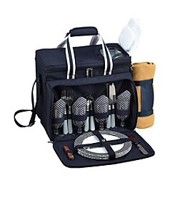Picnic at Ascot Deluxe Picnic Cooler with Blanket  for 4