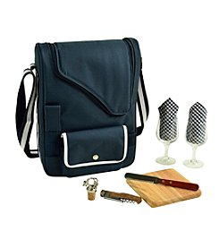 Picnic at Ascot Bordeaux Wine & Cheese Cooler Bag with Glass Wine Glasses for 2