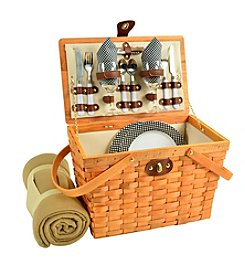 Picnic at Ascot Frisco American Style Picnic Basket for 2 with Blanket
