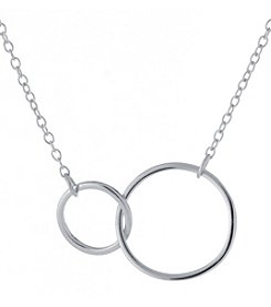 Athra Sterling Silver Linked Circles Necklace