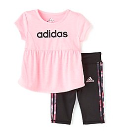 adidas® Baby Girls' 2-Piece Melange Capri Set