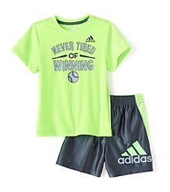 adidas® Baby Boys 2-Piece Midfielder Short Set