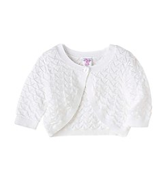 Mix & Match Girls' 2T-7 Pointelle Cardigan