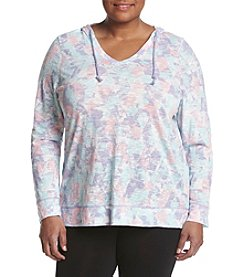 Exertek® Plus Size High-Low Slub Hoodie
