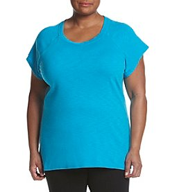 Exertek® Plus Size Slub Tunic Blouse