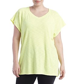 Exertek® Plus Size Slub Tee