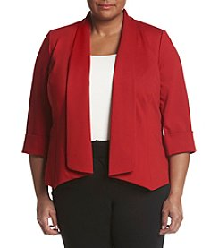 Kasper® Plus Size Solid Open Front Jacket