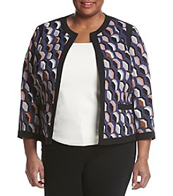 Kasper® Plus Size Honeycomb Printed Jacket