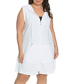 Dotti Plus Size Pretty Palm Coverup Tunic