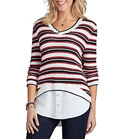 Democracy Striped Layer Sweater