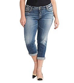 Silver Jeans Co. Plus Size Cuffed Boyfriend Jeans