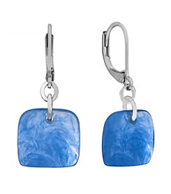 Gloria Vanderbilt® Square Leverback Drop Earrings