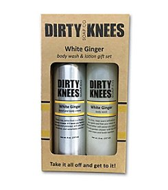 Dirty Knees Soap Co. White Ginger Lotion And Body Wash Gift Set