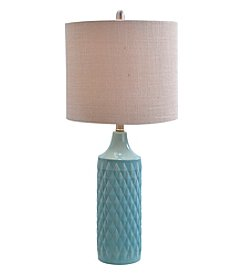 Catalina Lighting Quilted Ceramic Table Lamp
