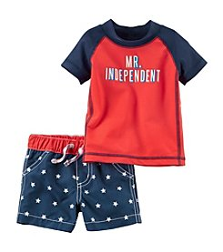 Carter's® Baby Boys' Mr. Independent Rashguard Swim Set