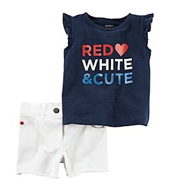 Carter's® Baby Girls' 2-Piece Red White and Cute Set