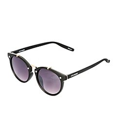 Steve Madden Round Metal Double Pleated Sunglasses