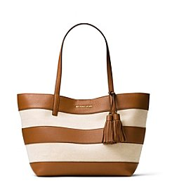 MICHAEL Michael Kors® Stripe Canvas Large East West Tote
