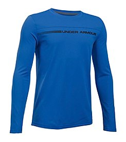 Under Armour® Boys' 8-20 Sun Block Long Sleeve Rashguard Top