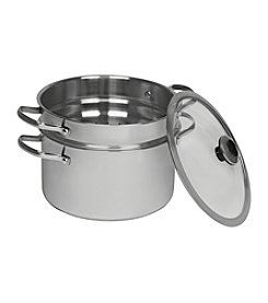 Revere® Stainless Steel 6.5-Quart Stock Pot with Pasta Insert and Lid