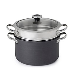Revere® Hard Anodized Aluminum 6.5-qt. Stock Pot with Stainless Steel Pasta Insert and Lid
