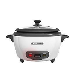 Black & Decker® 6-Cup Rice Cooker with Steamer Basket
