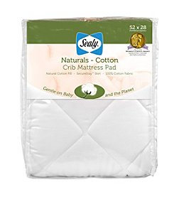 Sealy® Naturals Cotton Crib Mattress Pad