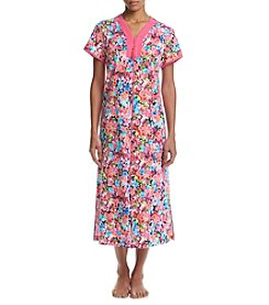 Miss Elaine® Long Floral Robe