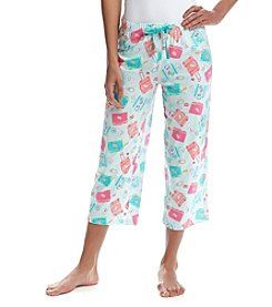 Relativity® Print Knit Sleep Capris