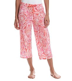 Relativity Print Knit Sleep Capris