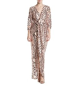 Trixxi® Sequin Wrap Gown