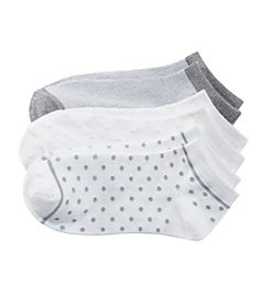 Cuddl Duds® 3-Pack Dots Low Cut Socks