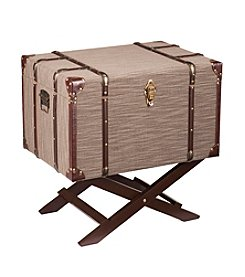 Southern Enterprises Devane Linen Trunk File Storage