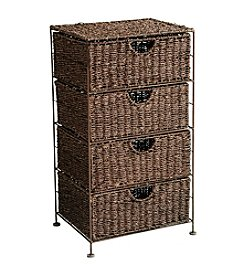 Southern Enterprises Kelsey Seagrass 4-Drawer Storage