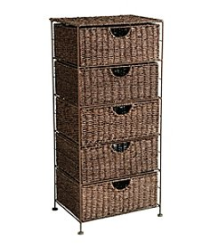 Southern Enterprises Kelsey Seagrass 5-Drawer Storage