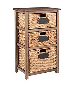 Southern Enterprises Quincy Coastal 3-Drawer Storage