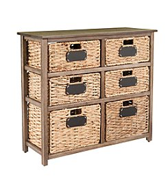Southern Enterprises Quincy Coastal 6-Drawer Storage