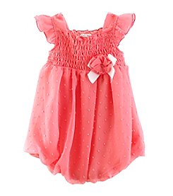 Cuddle Bear® Baby Girls' Polka-Dot Bubble Romper