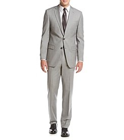 Calvin Klein Men's Sharkskin Slim Fit Suit