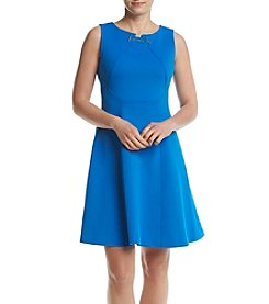 Ivanka Trump® Fit And Flare Scuba Dress
