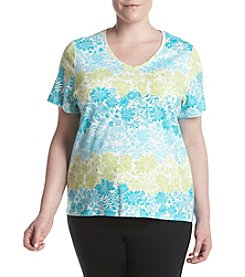 Studio Works® Plus Size Printed V-Neck Top