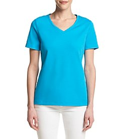 Studio Works® Petites' Short Sleeve V-Neck Top