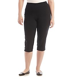 Studio Works® Plus Size Wide Waistband Pull-On Capri Pants