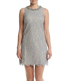 Eliza J® Beaded Lace Shift Dress
