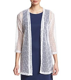 Nina Leonard® Open Stitch Sequin Shrug