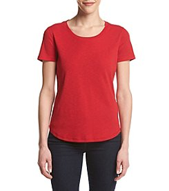 Ruff Hewn Petites' Solid Shirttail Tee