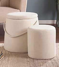 Southern Enterprises 2-pc. Bickmore Nesting Ottoman Set